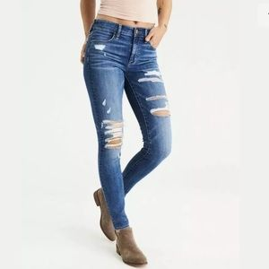 American Eagle hi-rise jegging distressed jeans